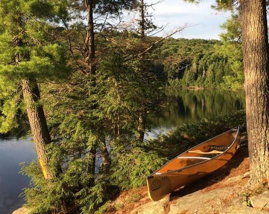 Canoe on shoreline