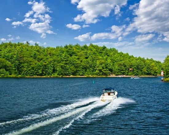Boating on lake 1