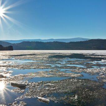December webinar photo ice melt and sunburst