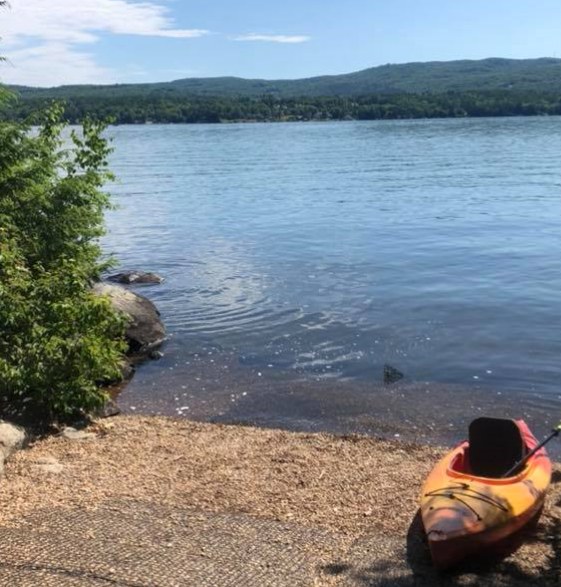 Kayak at Boat Ramp