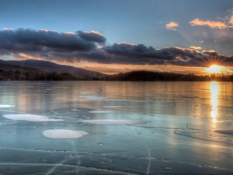 Lakes in Winter Photo