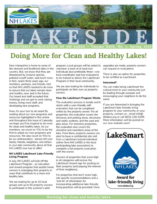 NH LAKES 2019 Spring Lakeside page 1