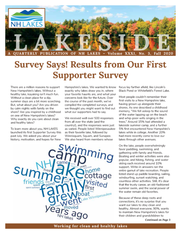 NH Lakes Fall 2020 Newsletter FINAL Page 01