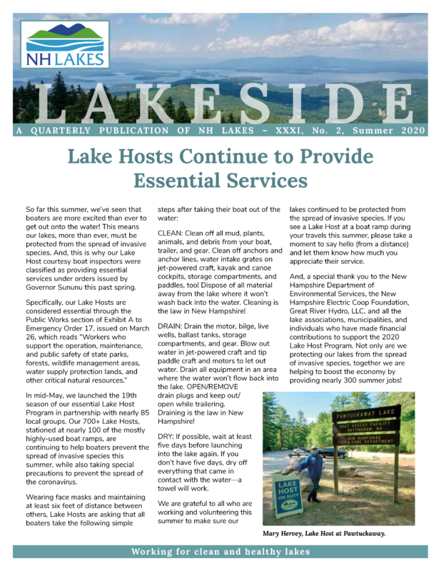 NH LAKES Summer 2020 Newsletter