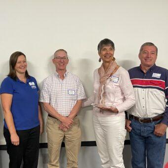 Ann Scholz receives the organization's most prestigious award