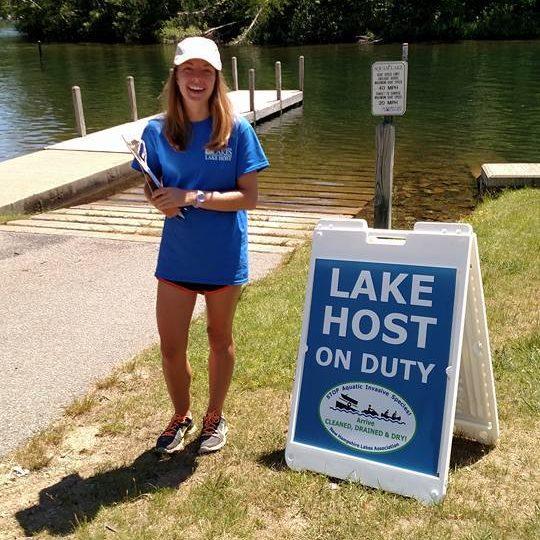 NH LAKES Lake Host on Duty