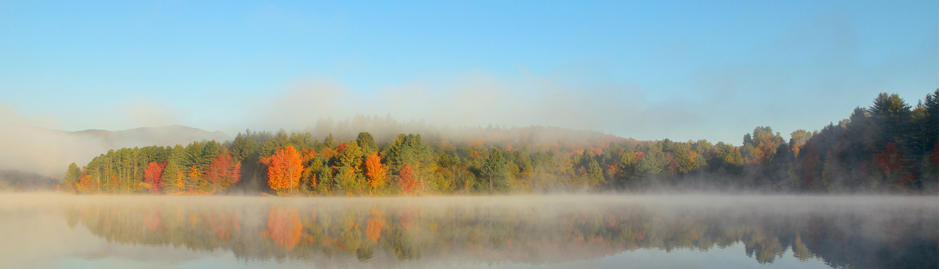 Fall foliage on a New Hampshire lake