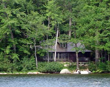 A house on a New Hampshire lake