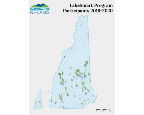 nh lakes lakesmart program participants map