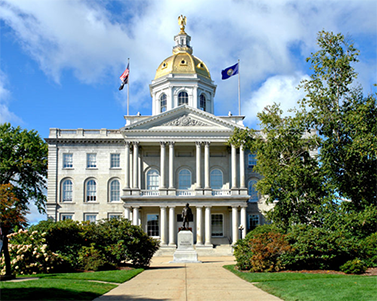The New Hampshire State House in Concord, NH