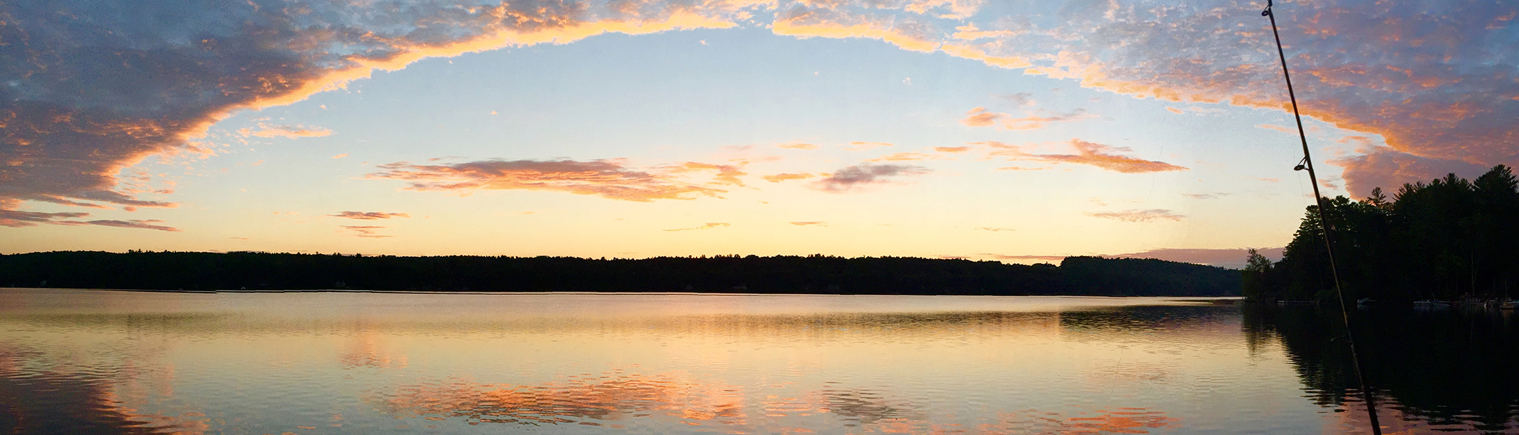 A New Hampshire lake at sunset
