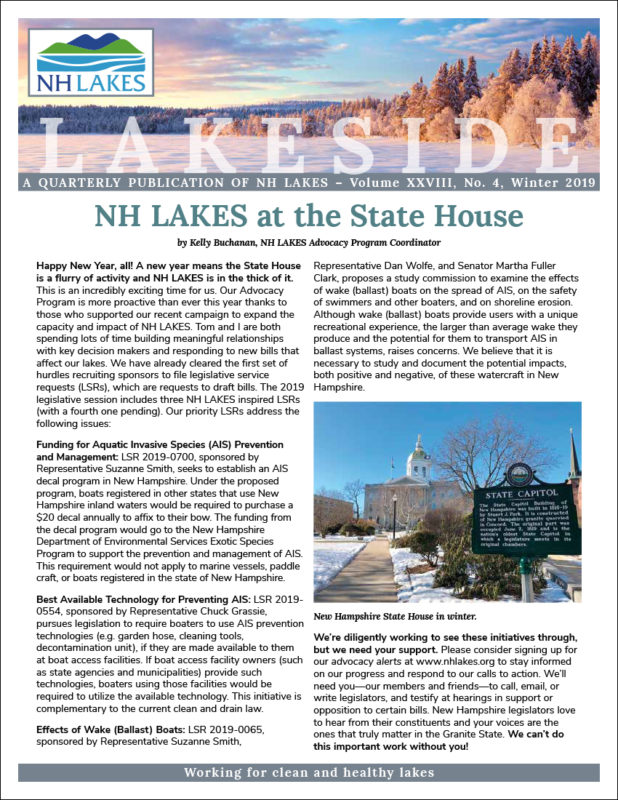 NH LAKES Winter 2019 issue of Lakeside